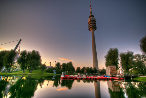 Olympiapark at sunset | by moritz.homann