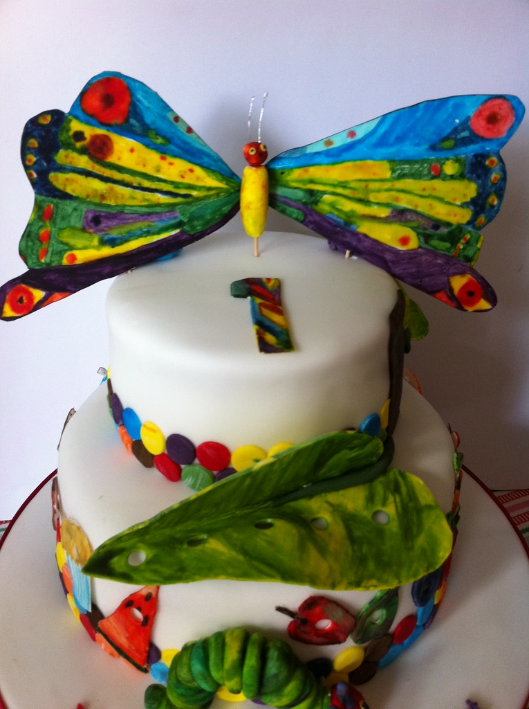Miraculous The Very Hungry Caterpillar Birthday Cake From Cakes By Ca Flickr Personalised Birthday Cards Veneteletsinfo