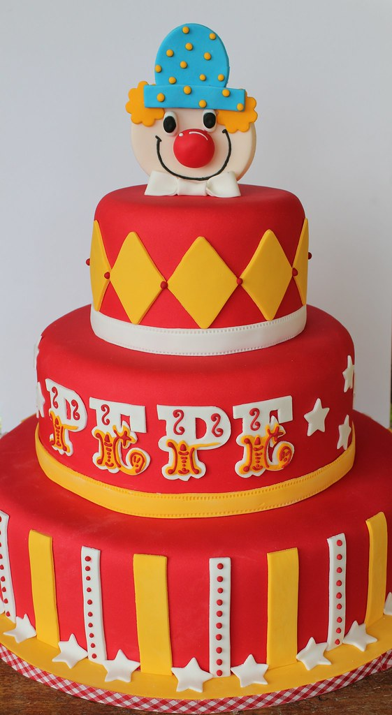 Miraculous Circus Birthday Cake Isa Flickr Personalised Birthday Cards Veneteletsinfo