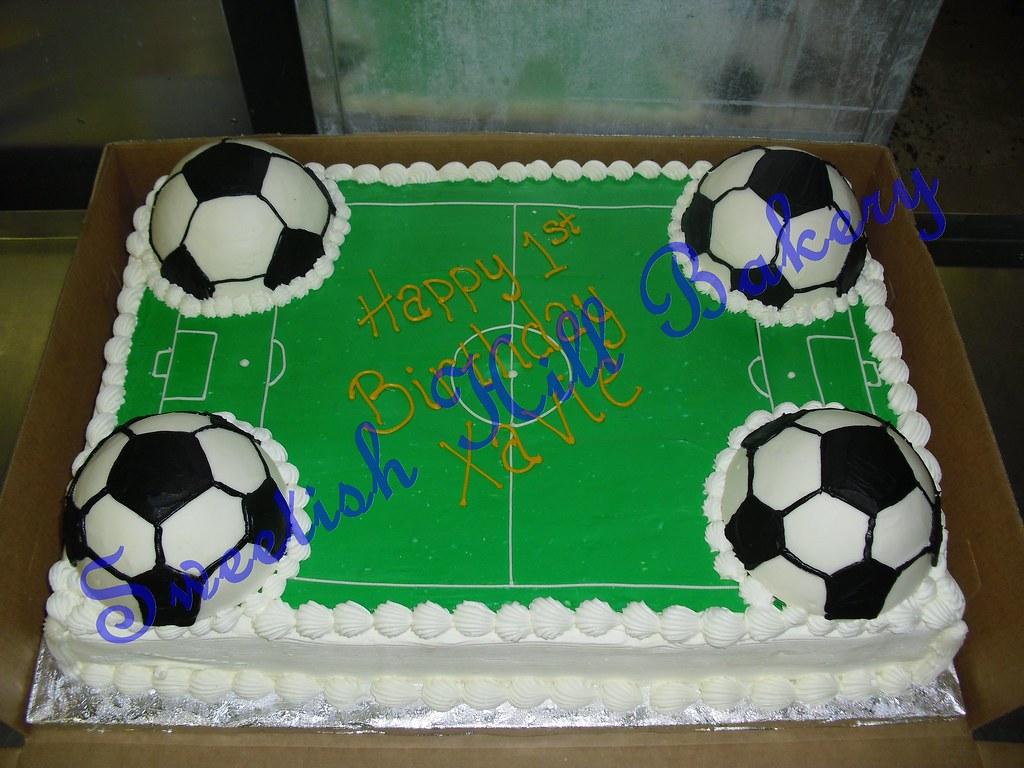 Sensational Soccer Field Birthday Cake Full Sheet Custom Decorated Cak Flickr Funny Birthday Cards Online Aboleapandamsfinfo