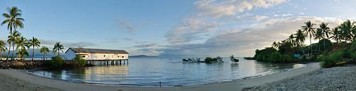 panorama beach clouds sunrise palms coast sand nikon paradise wide wharf qld queensland d200 portdouglas tropics ptgui sugarwharf claustral2011 claustralbest2011 claustral2011calendar
