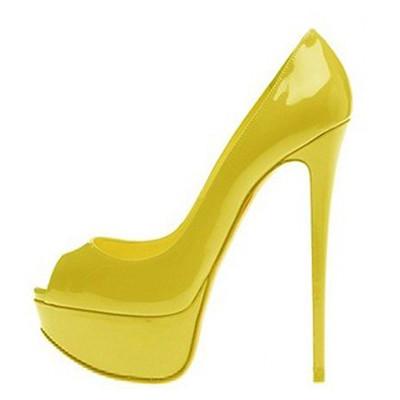 half off cd9e3 52216 Christian Louboutin Lady Peep Toe Platform Pumps Yellow | Flickr