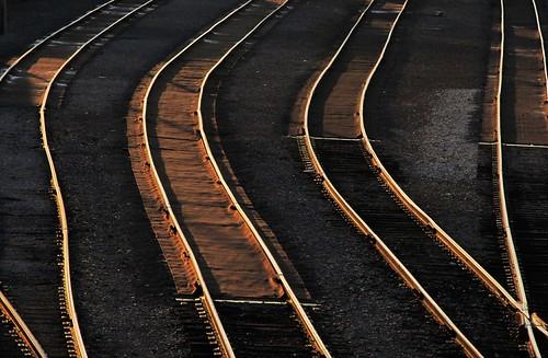 railroad sunset tracks westvirginia