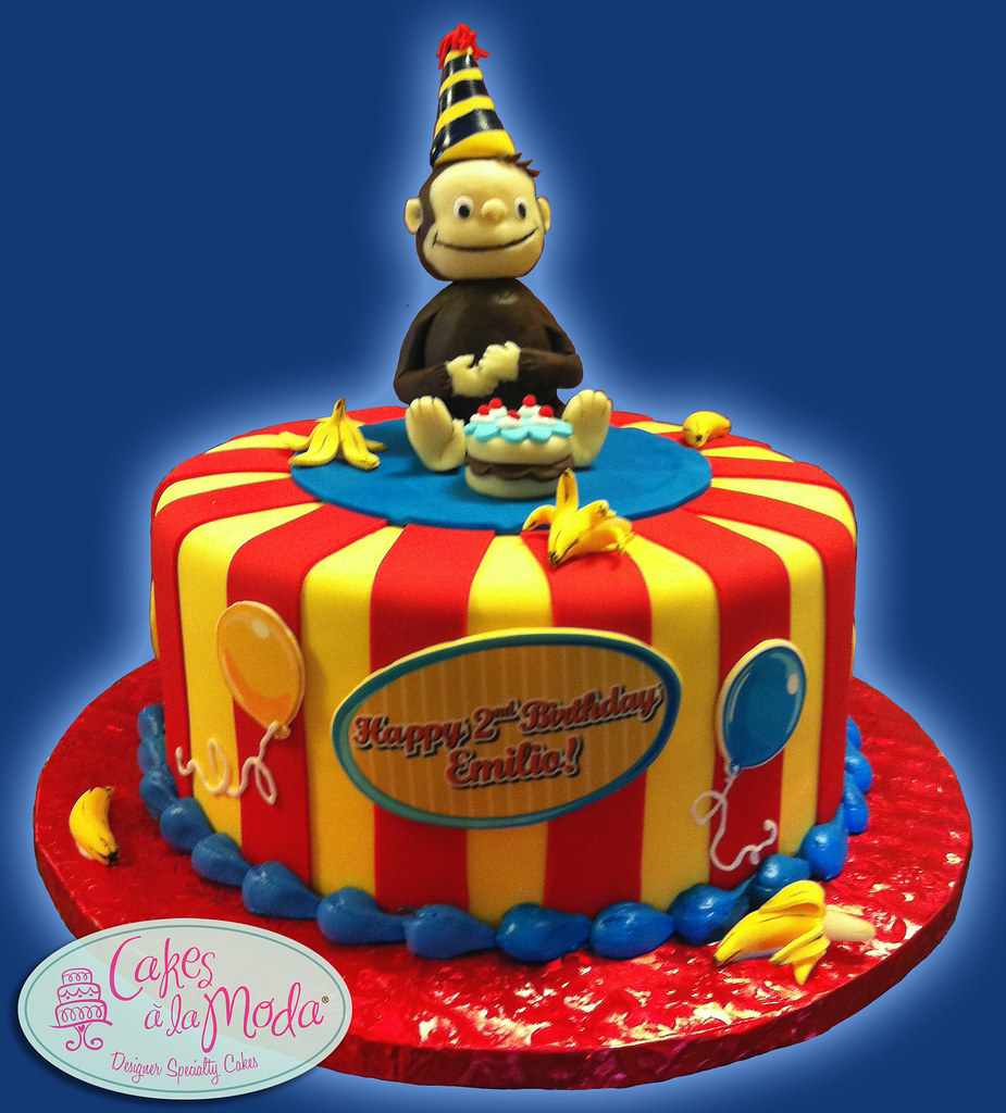 Swell Curious George Birthday Cake Cakesalamoda Flickr Funny Birthday Cards Online Sheoxdamsfinfo