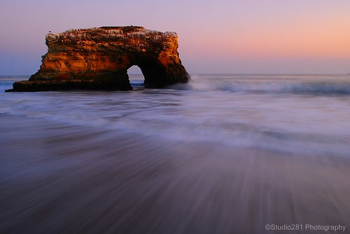 ocean california longexposure sunset summer santacruz beach nature waves sundown shoreline naturalbridge naturalbridgesstatebeach recedingwaves