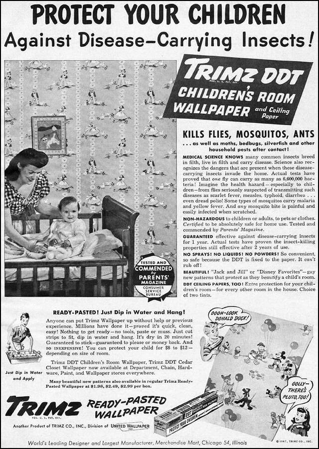 Disney DDT Wallpaper Advert (1947)