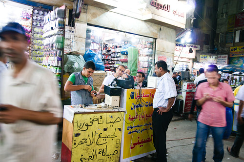 Cell Phone Fix-it Stall, Cairo, Oct-2011 | by maltman23