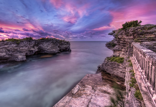 pink blue sunset water wall sunrise point harbor dock harbour calm spanish serenity limestone inlet bermuda turqoise caribean carribeancaribbean