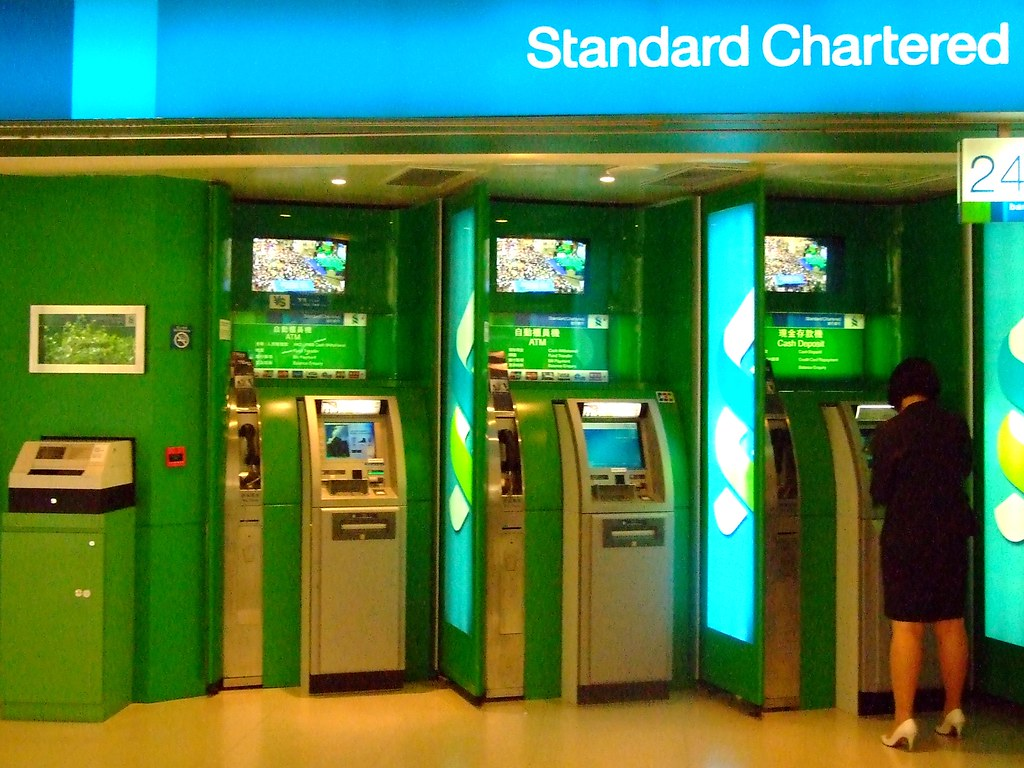 ATM at Standard Chartered Bank | Photo taken at the Pacific