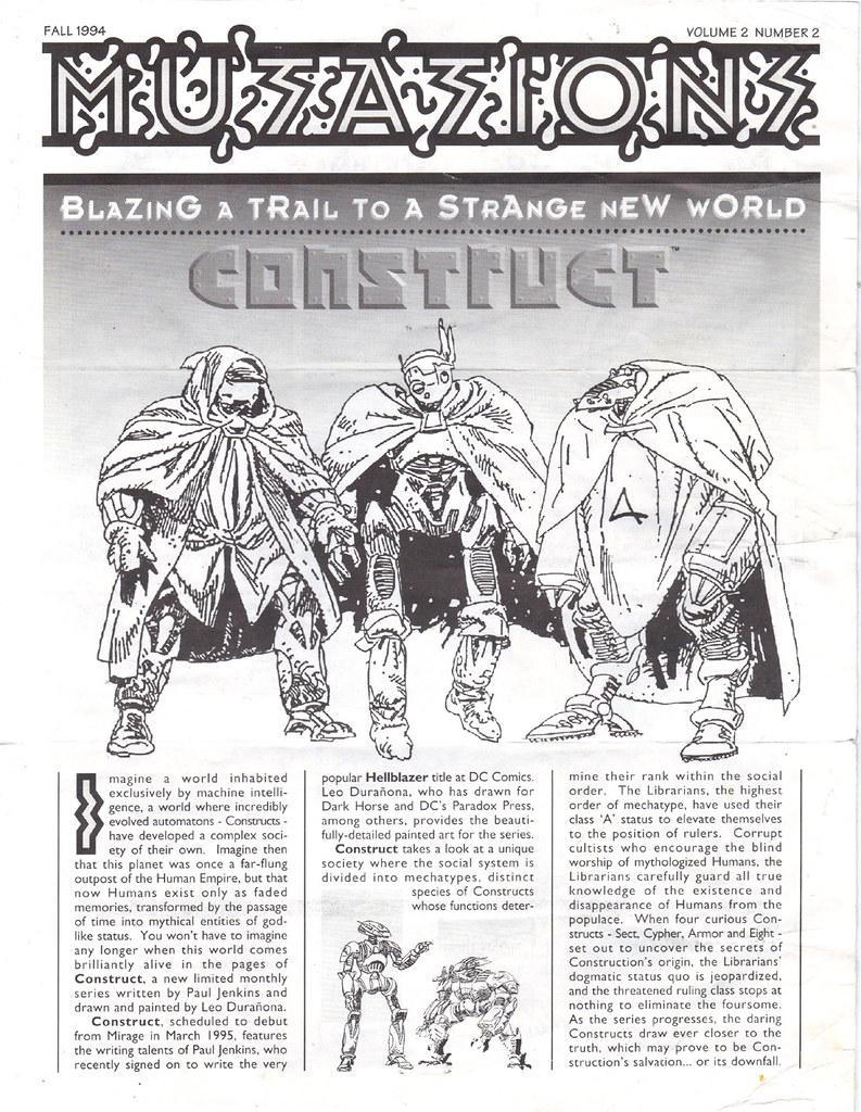 MIRAGE PUBLISHING :: 'MUTATIONS' newsletter V.2 #2 / FALL 1994  ii (( 1994 )) by tOkKa
