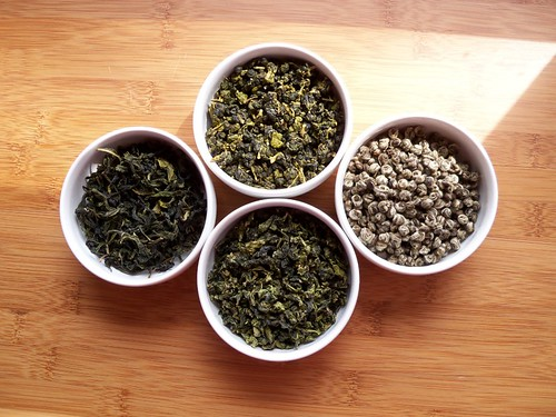 Four GreenTeas in White Bowls #1 | by A Girl With Tea