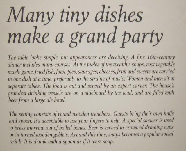 1500-luvun ruokalajeja