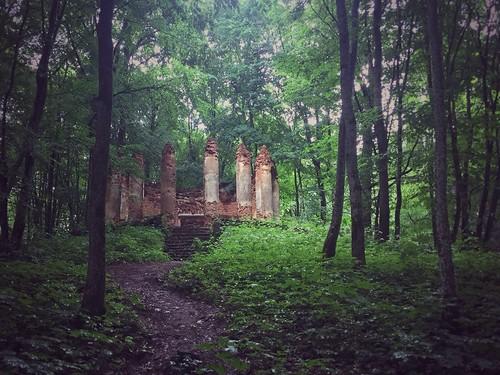 building chapel belarus ruined sula