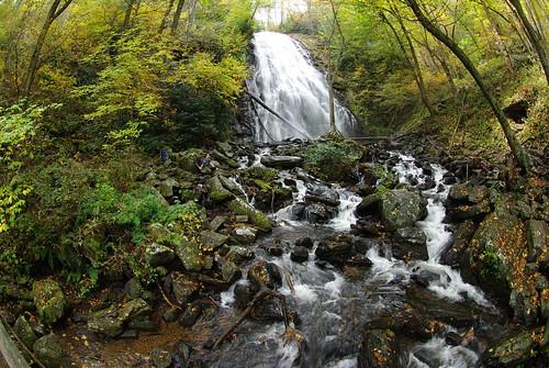 waterfall nc northcarolina fisheye blueridgeparkway crabtreefalls