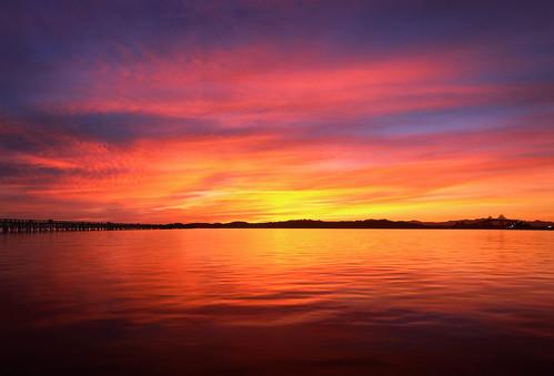 morning bridge sunset sky color reflection water clouds sunrise point dawn bay coast high san francisco angle no wide calm richmond velvia area vista rafael provia quentin rz67 e100