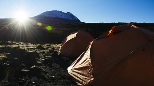 kilimanjaro sunrise shira1camp