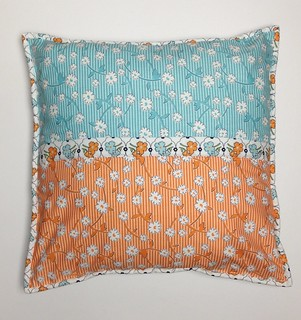 Vintage Happy Wildflower cushion back | by Mary-and-Tobit