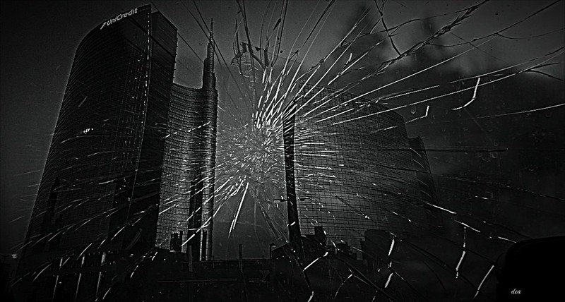 Milan .. through the broken glass