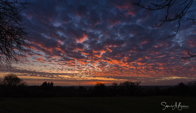 Tonight's fading sunset