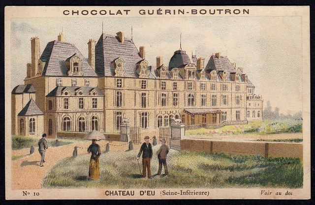 French Tradecard - Chateau d'Eu