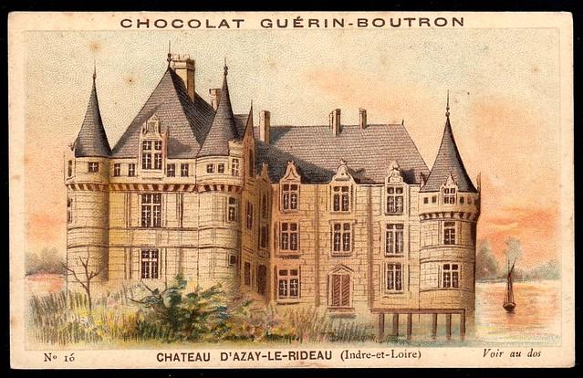 French Tradecard - Chateau d'Azay-Le-Rideau