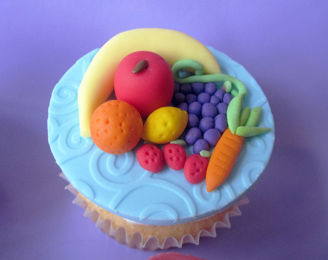 Fruits and Vegetables Cupcake