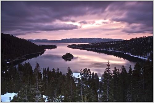 california water sunrise laketahoe emeraldbay