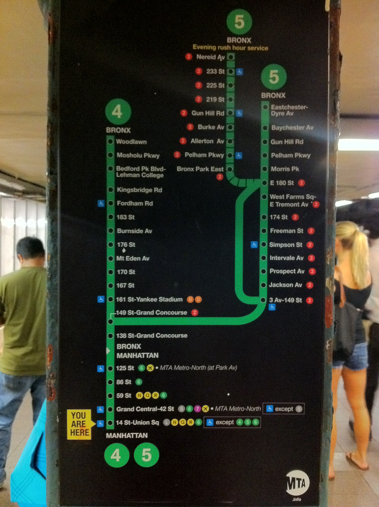 New MTA wayfinding signage   New subway    diagram    as seen in t      Flickr