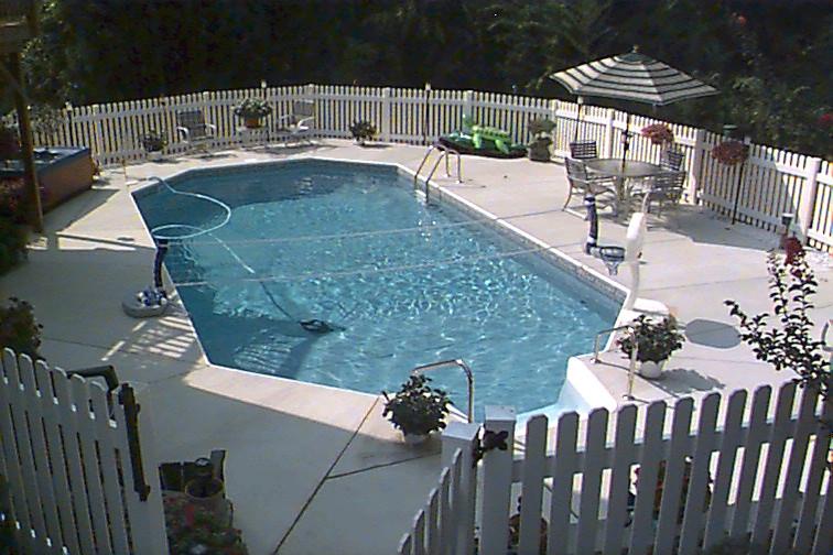 inground swimming pool rectangle grecian concrete deck 02 ...