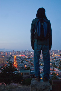 17248 Adithya contemplates his next move overlooking Van Ness from Bernal Heights Park | by geekstinkbreath