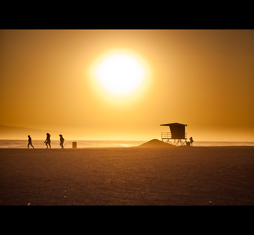 california sunset summer people beach silhouette losangeles sand socal
