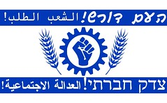 The Social Justice protest flag - Israeli flag colours