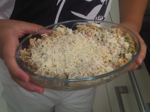 Baked Tuna and Cheese Casserole-Before- Vin