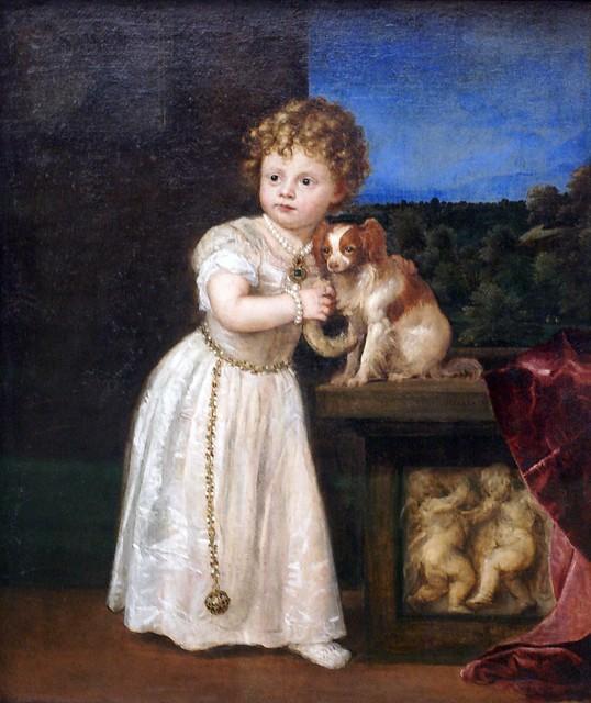 Tizian/Titian/Tiziano, Clarissa Strozzi im Alter von zwei Jahren - Clarissa Strozzi im Alter von zwei Jahren - Clarissa Strozzi at the age of two - Clarissa Strozzi a due anni