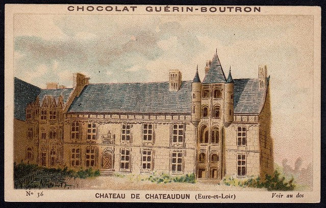 French Tradecard - Chateau de Chateaudun