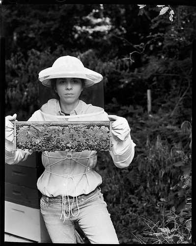 Jill holding a frame | by cary norton