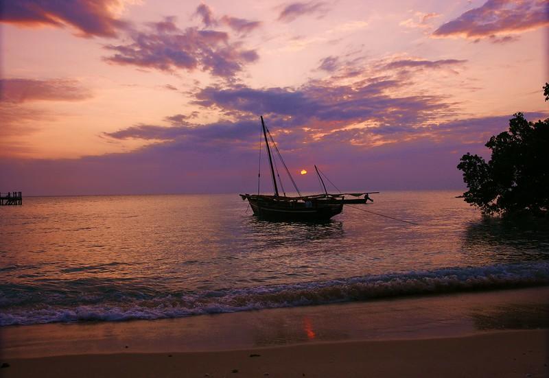 Zanzibar hotel beach sunset