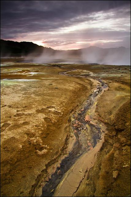 Sulphur creek, Hverarönd, Namaskard, Iceland