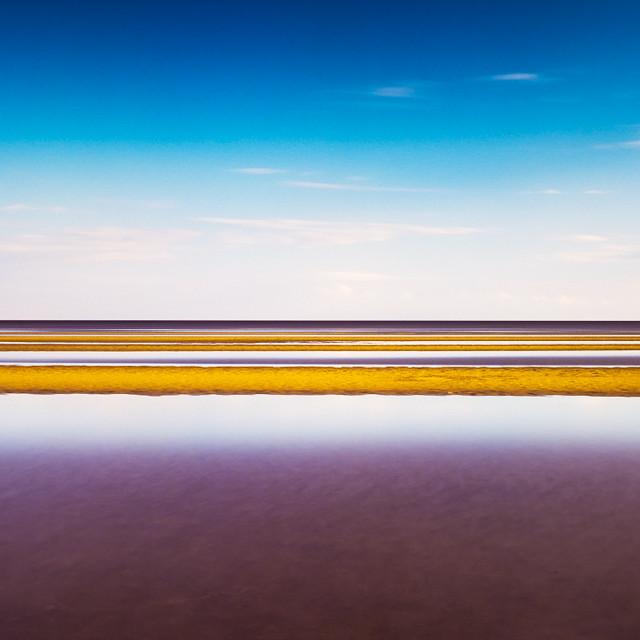 Yellow Stripes. Rybinsk Sea, Russia, 2011.