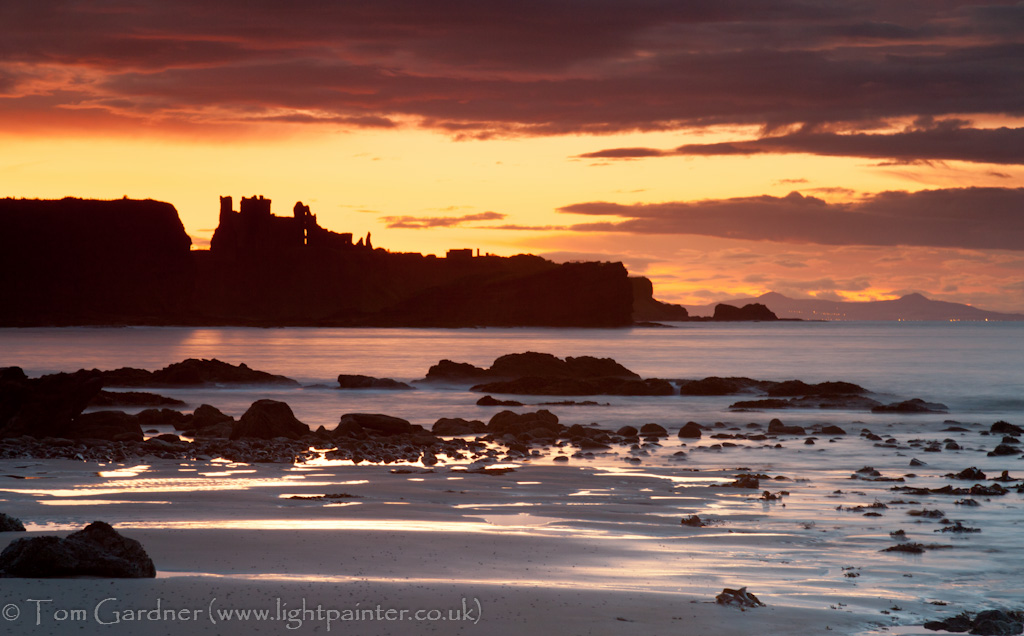 Tantallon Castle at sunset