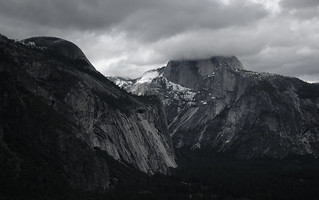 Half Dome in clouds | by KittyKat3756