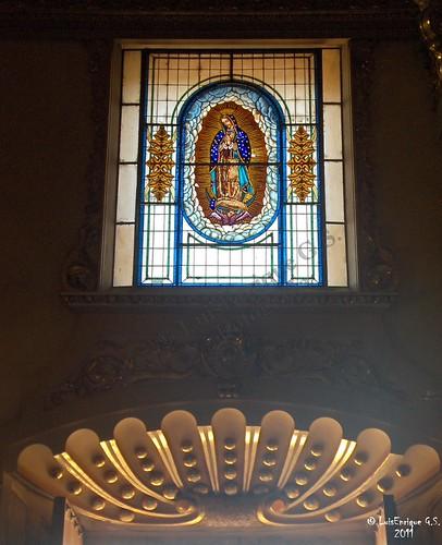 Virgen de Guadalupe - Vitral  - Parroquia de San Agustin - Chiautla de Tapia - Puebla - México