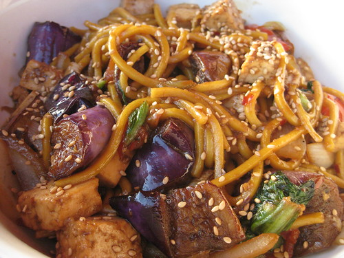 Japanese eggplant with egg noodles at Doc Chey's Noodle House | by sylvar