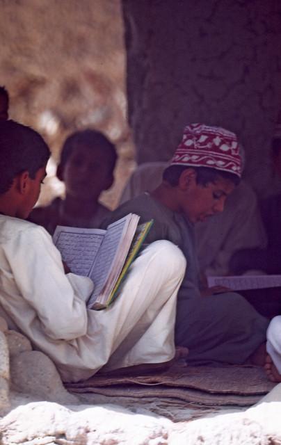 Boys at Koran School Nakhl Oman