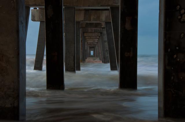 Gulf State Pier--Surf's Up