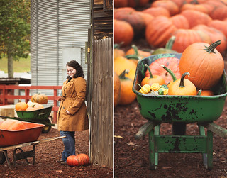 a rainy day trip to the pumpkin farm | by hannah * honey & jam