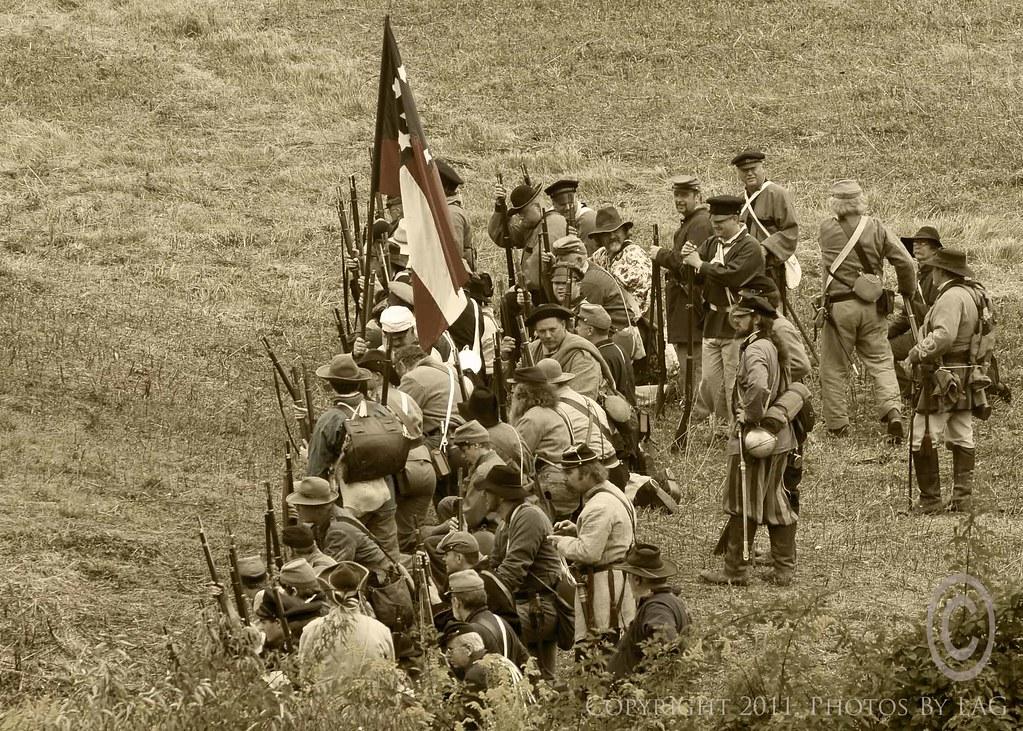 1861 American Civil War, reenactment | Battle of Bull Run 1s