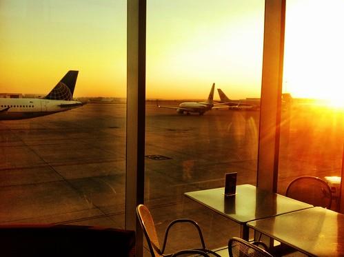 light window sunrise airplane airport bc tulsa airtravel photohaiku tul