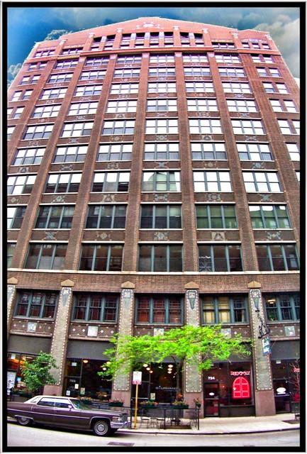 Franklin Building ~  Chicago IL ~ Printers Row ~ Building