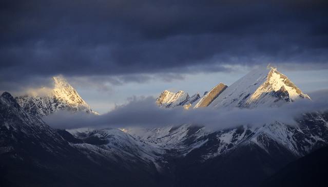 Mountain peaks from Khamba village